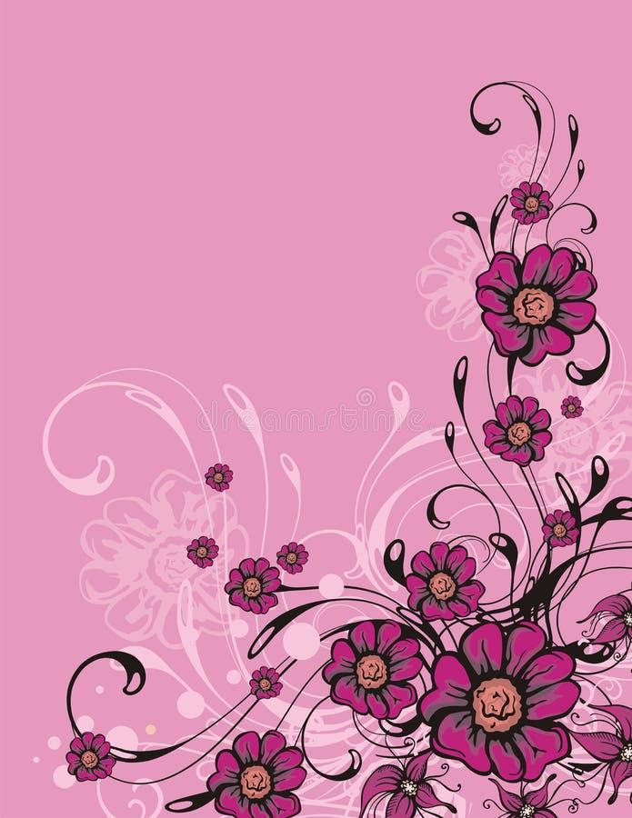 Bloemen sierachtergrond vector illustratie