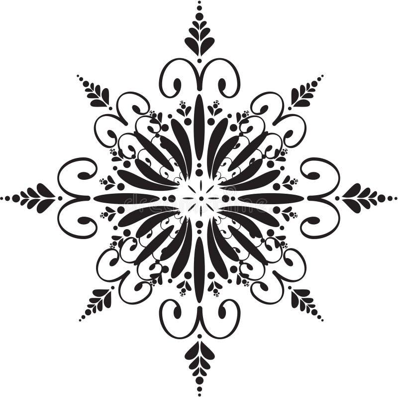 Bloemen sneeuwvlok royalty-vrije illustratie
