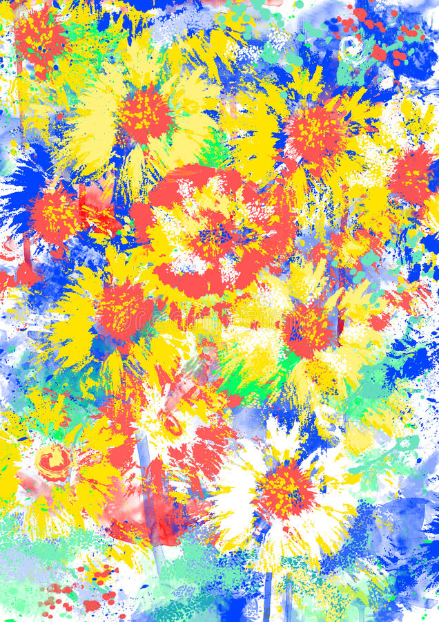 Bloemen stemming. vector illustratie