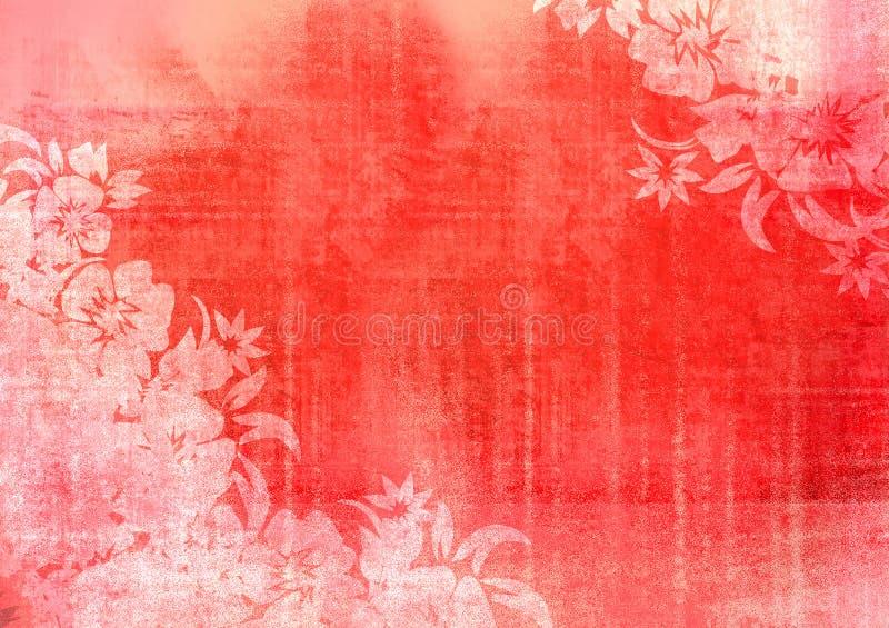 Bloemen stijlachtergronden royalty-vrije illustratie