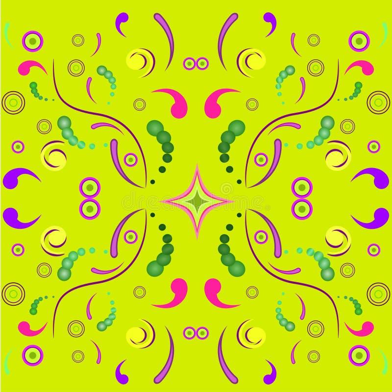 Bloemen symmetrisch ornament stock illustratie