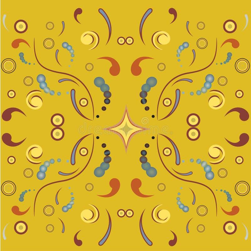 Bloemen symmetrisch ornament vector illustratie