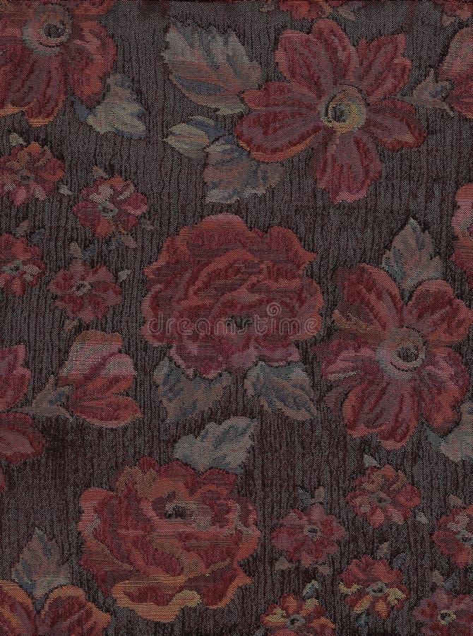 Bloemen tapijtwerk. stock afbeelding