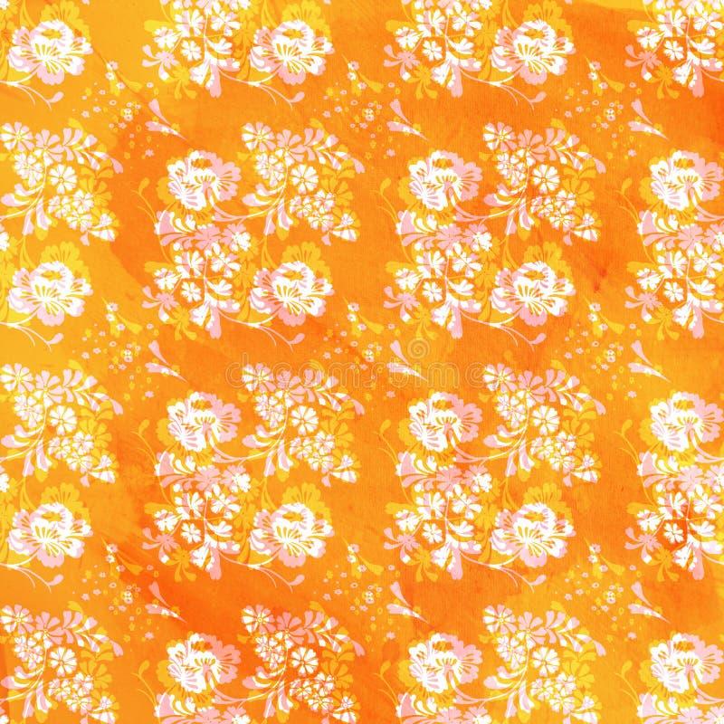 Bloemen tegel royalty-vrije stock afbeelding
