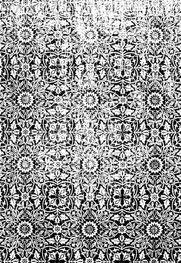 Bloemen Textuur Grunge royalty-vrije illustratie