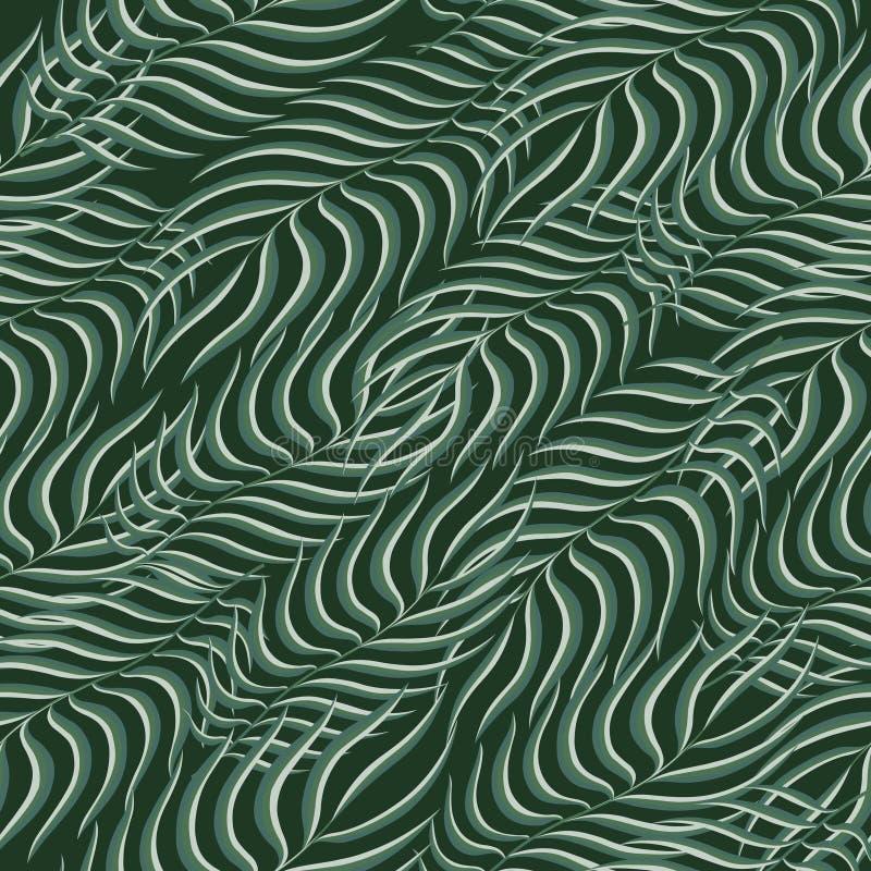 Bloemen tropisch palm naadloos patroon Exotisch van de aarddecoratie naadloos patroon als achtergrond Moderne tropische kunstmani royalty-vrije illustratie