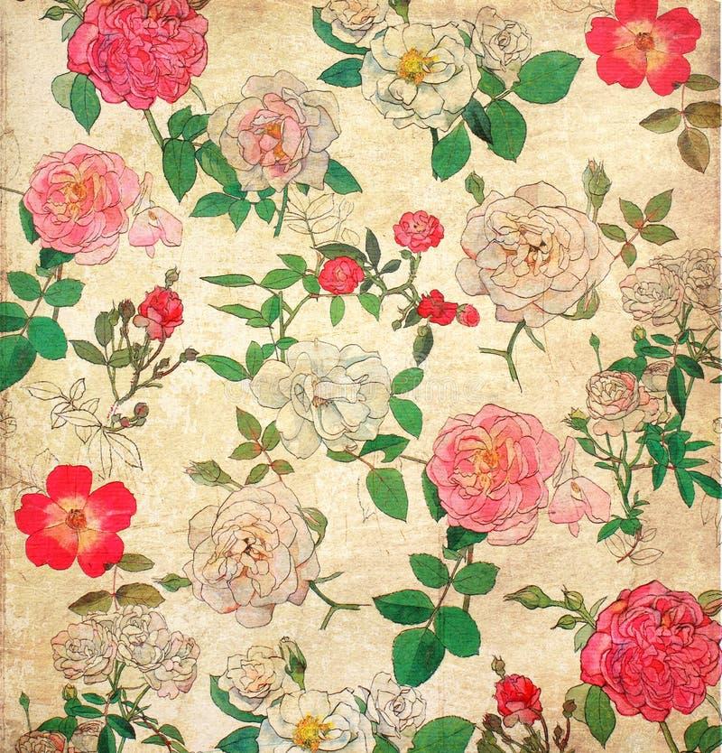 Bloemen uitstekend behang stock fotografie