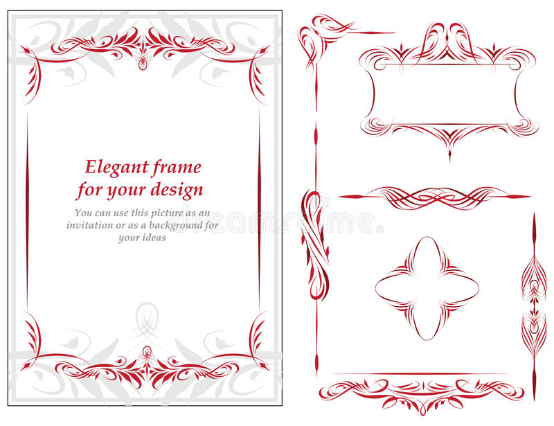 Bloemen uitstekend frame vector illustratie