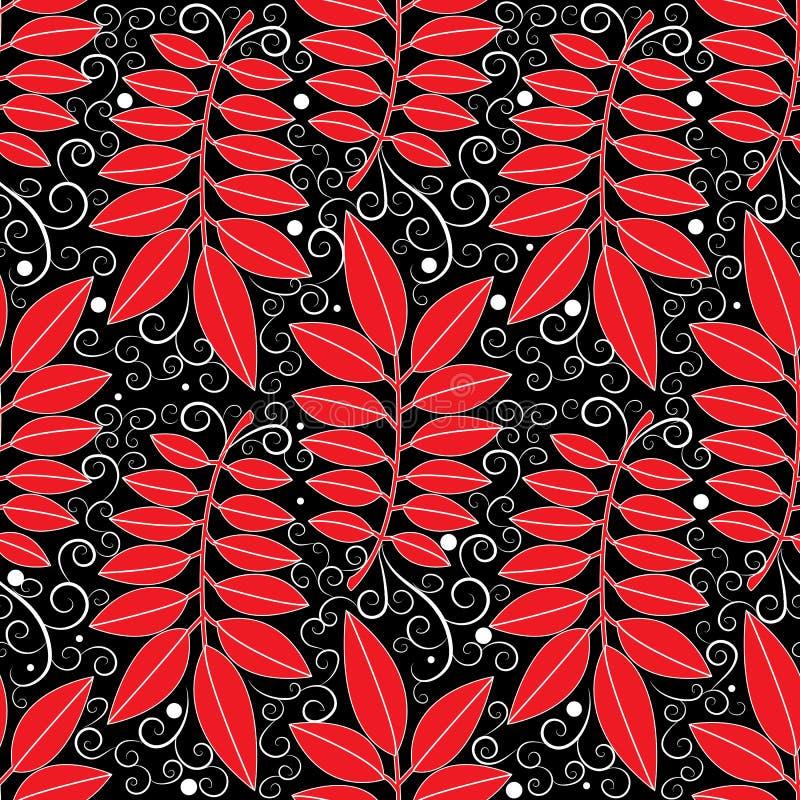 Bloemen uitstekend naadloos patroon Abstracte vector zwarte backgroun royalty-vrije illustratie