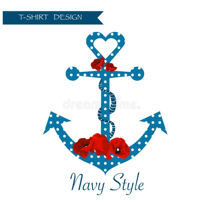 Bloemen van de marinet-shirt grafisch ontwerp als achtergrond vector illustratie