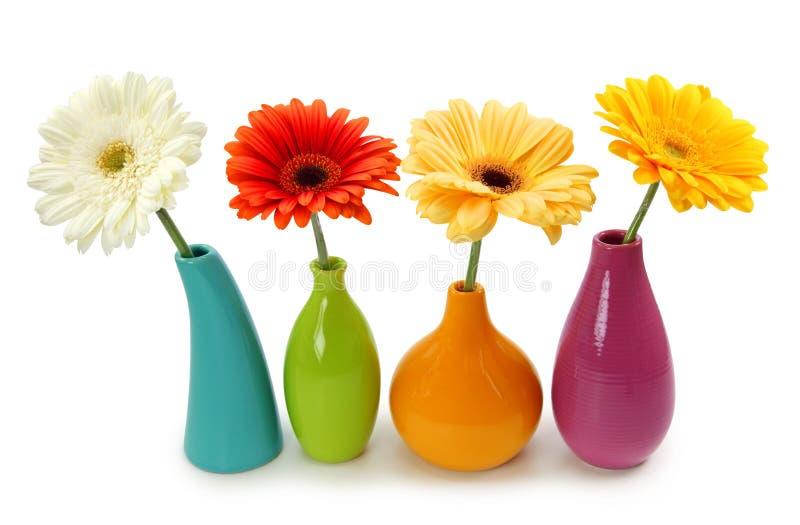 Bloemen in vazen royalty-vrije stock foto's