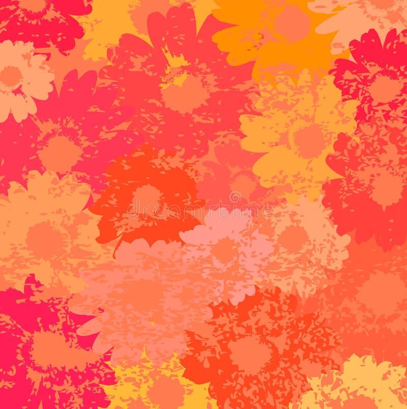 Bloemen vector als achtergrond royalty-vrije illustratie