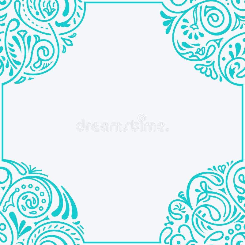 Bloemen vector kalligrafisch kader Ontwerp voor huwelijk en groetkaarten, valentijnskaarten, uitnodigingen stock illustratie