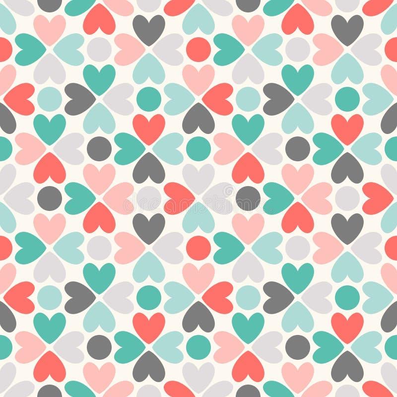 Bloemen vector naadloos patroon Rood, groen, zwart royalty-vrije illustratie