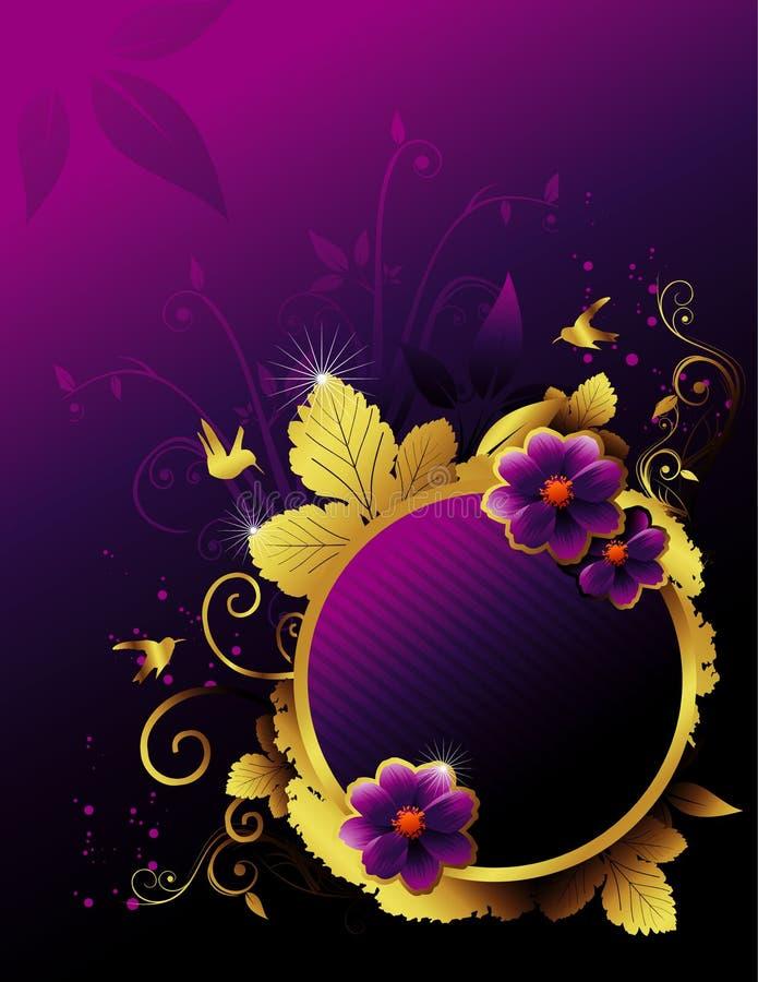 Bloemen vectorbannerillustratie vector illustratie