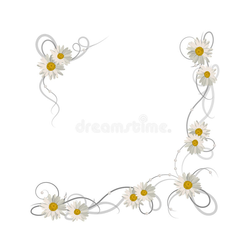 Bloemen vectorframe stock illustratie