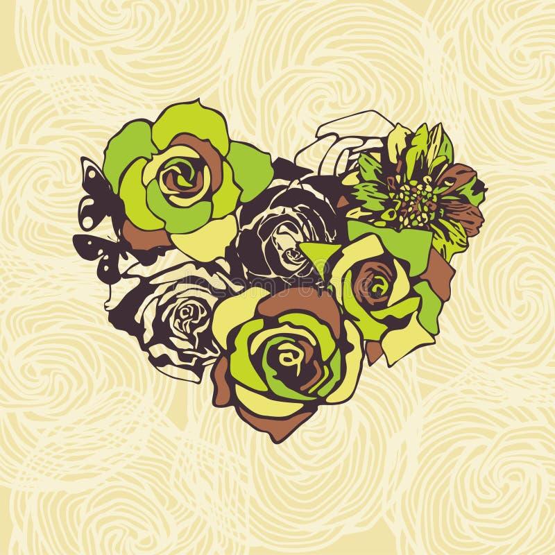 Download Bloemen vectorhart vector illustratie. Illustratie bestaande uit hart - 29501382