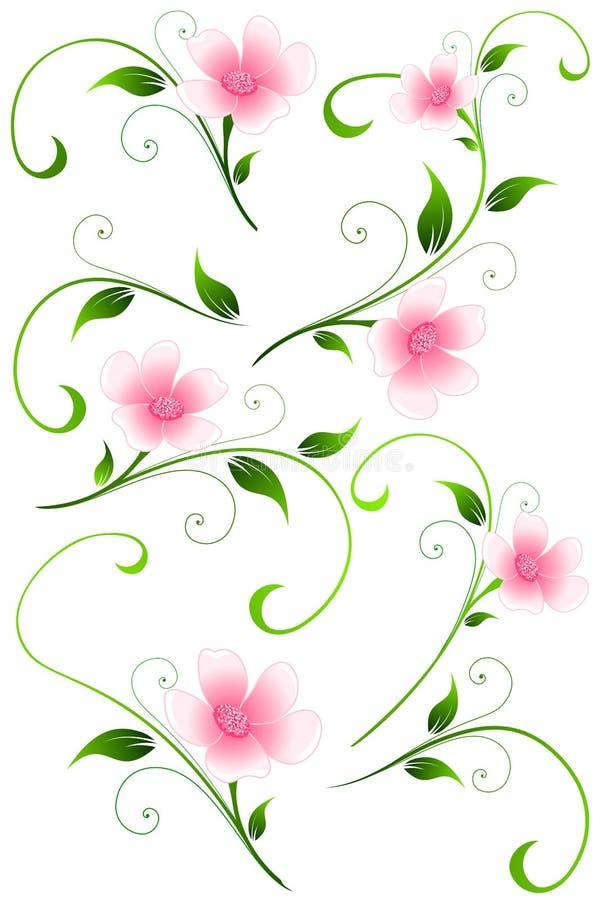 Bloemen Vectorontwerpelementen vector illustratie