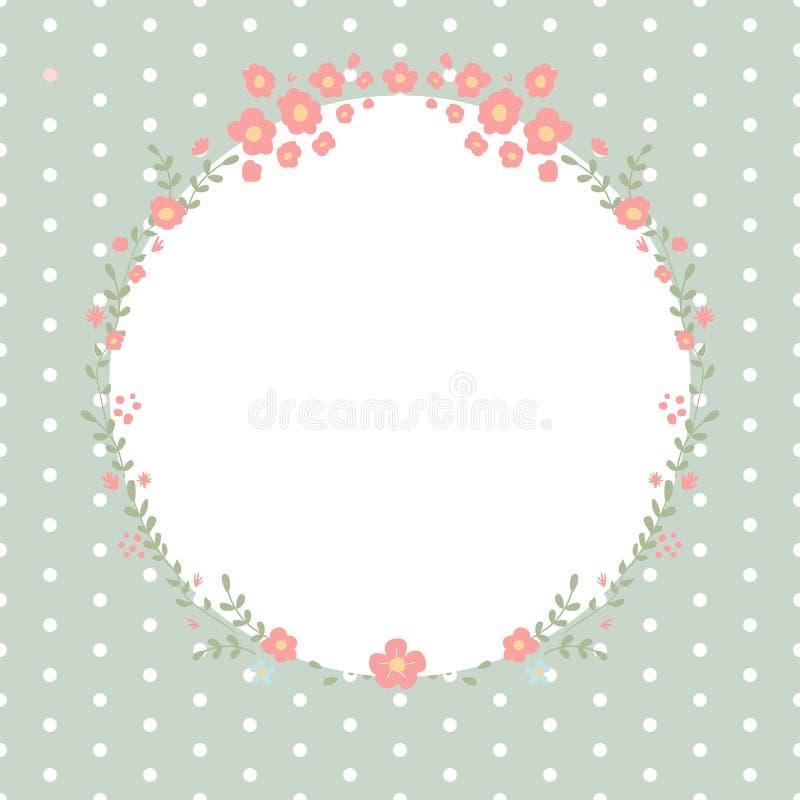 Bloemen vectorontwerpkader vector illustratie