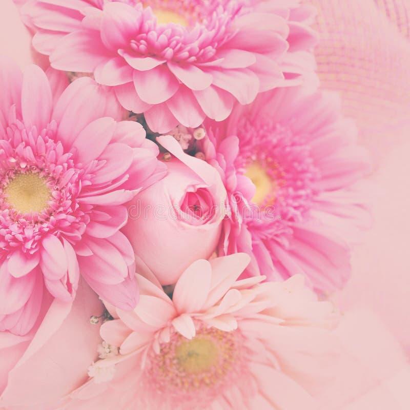 Bloemen vierkante groetkaart royalty-vrije stock foto's