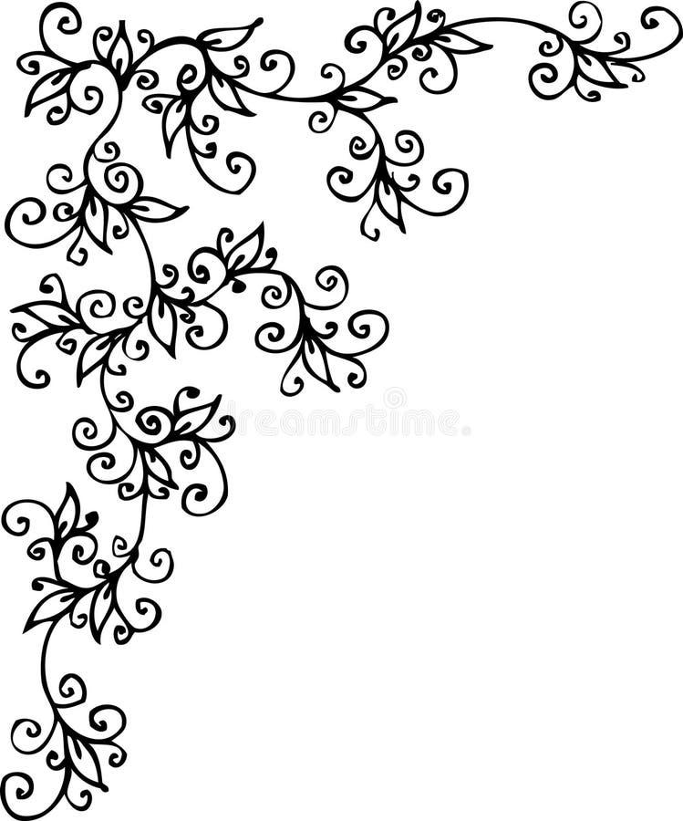 Bloemen vignet CLXI vector illustratie
