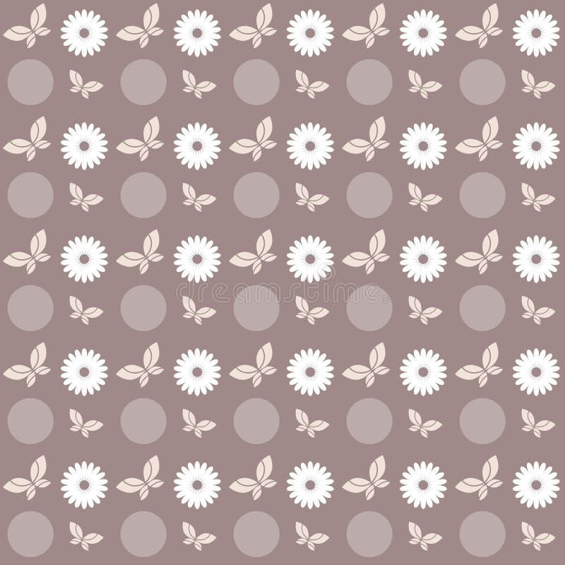 Bloemen vlinderpatroon vector illustratie