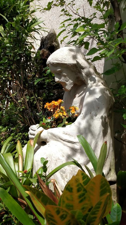 Bloemen voor Jesus stock foto