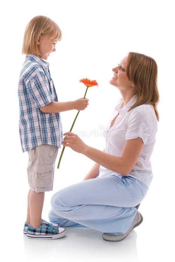 Bloemen voor mamma stock foto