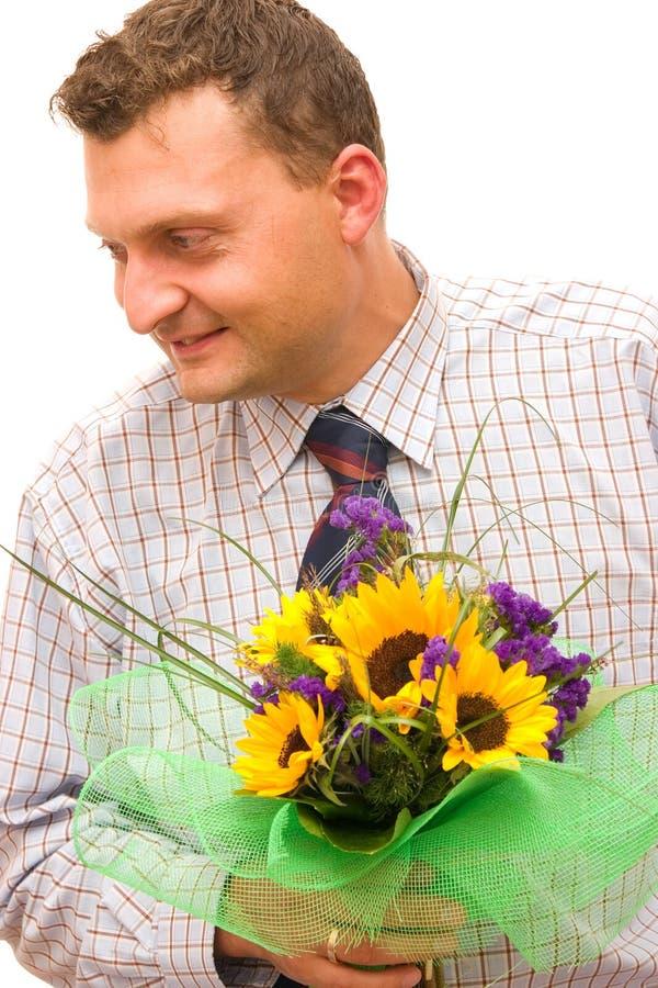 Bloemen voor u royalty-vrije stock afbeelding