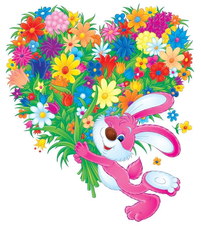 Bloemen voor u stock illustratie