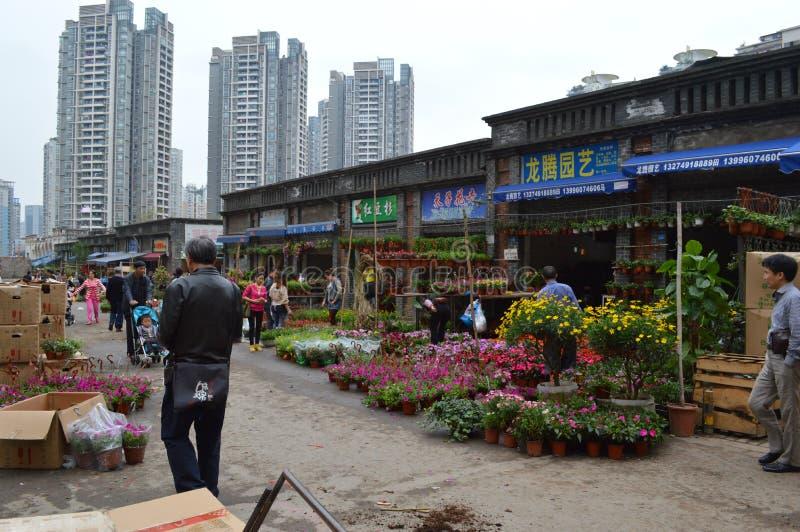 Bloemen voor verkoop stock foto
