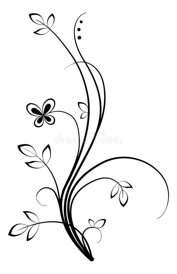 Bloemen werveling stock illustratie