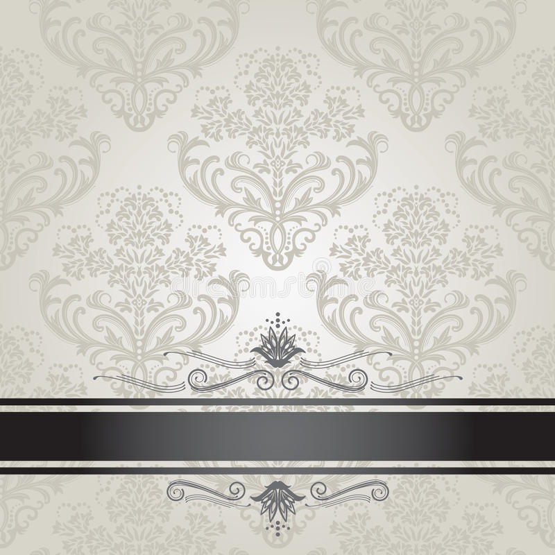 Bloemen zilveren het boekdekking van de luxe stock illustratie