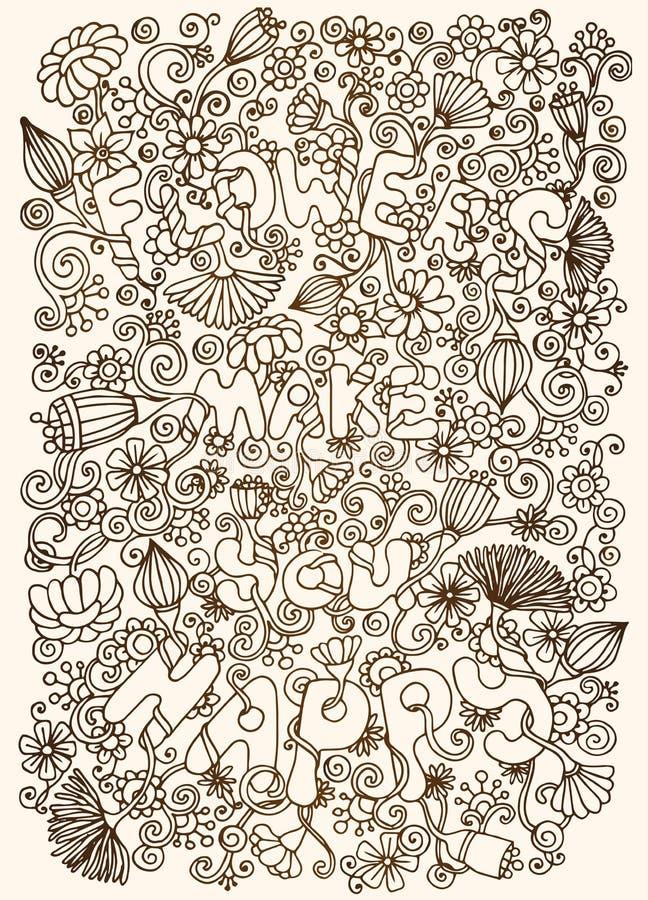Download Bloemenachtergrond, Grafische Bloemen En Bladeren Stock Illustratie - Illustratie bestaande uit bloemen, madeliefje: 39102954
