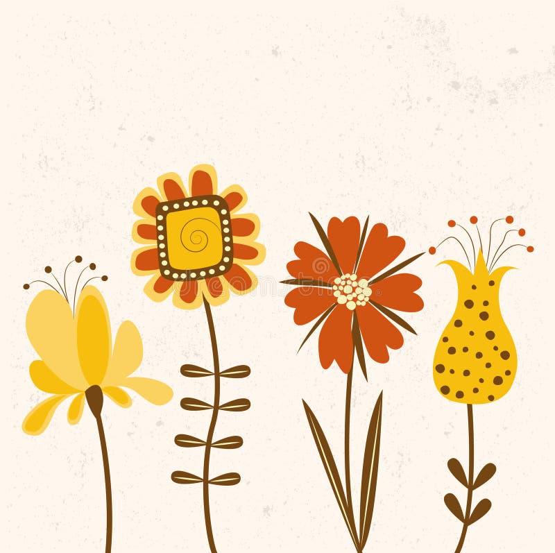 Bloemenachtergrond in heldere kleuren. stock illustratie