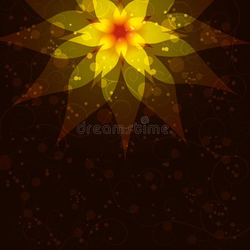 Bloemenachtergrond met abstracte bloem, uitnodiging vector illustratie