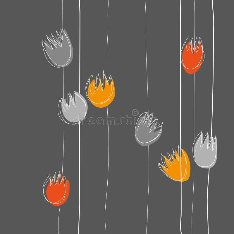 Bloemenbackgroung stock illustratie
