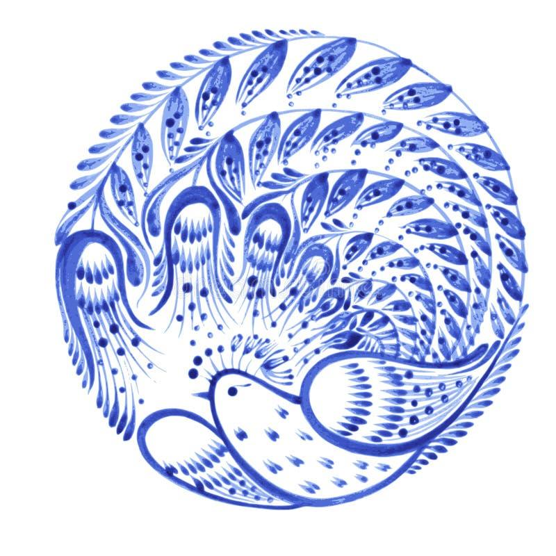 Bloemencirkel stock illustratie
