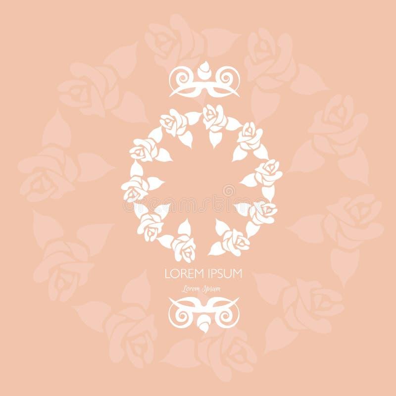 Bloemendiekader in vector wordt gemaakt stock illustratie