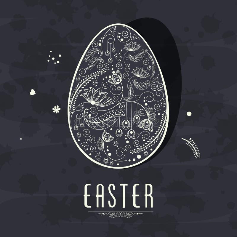 Bloemenei voor Gelukkige Pasen-viering stock illustratie