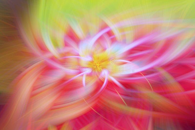 Bloemenfractal achtergrondbekendheidsart. vuurhaardscifi royalty-vrije illustratie