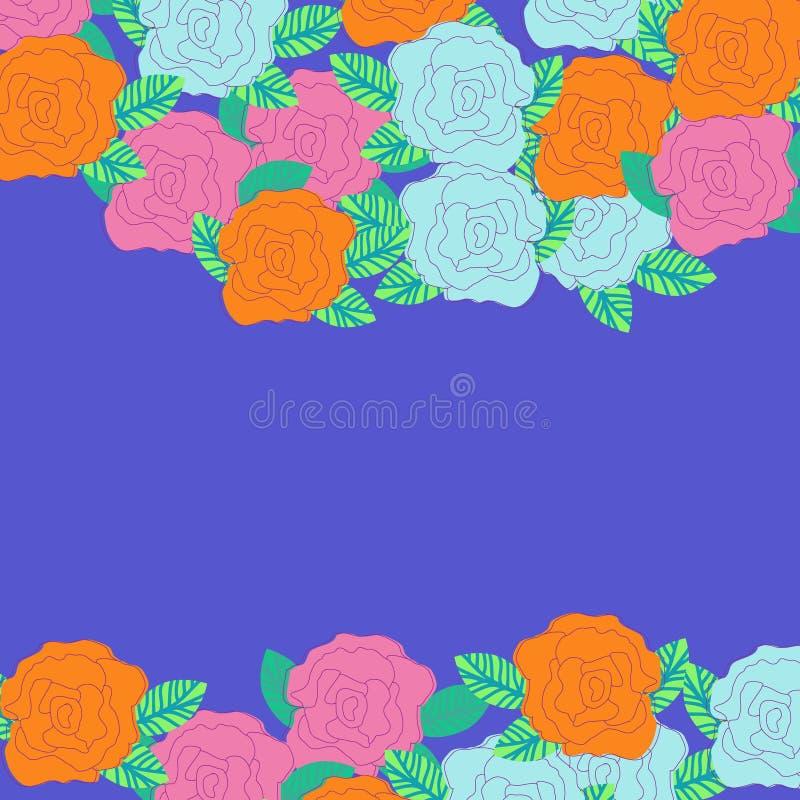 Bloemenkaart met heldere bloem met plaats royalty-vrije illustratie