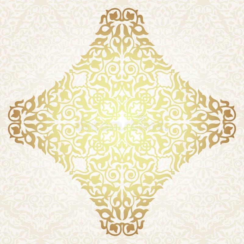 Bloemenkaderachtergrond in Arabisch motief stock illustratie