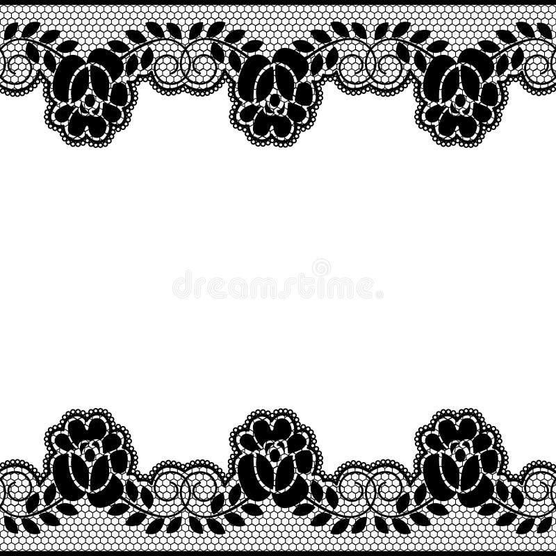 Bloemenkantgrenzen vector illustratie
