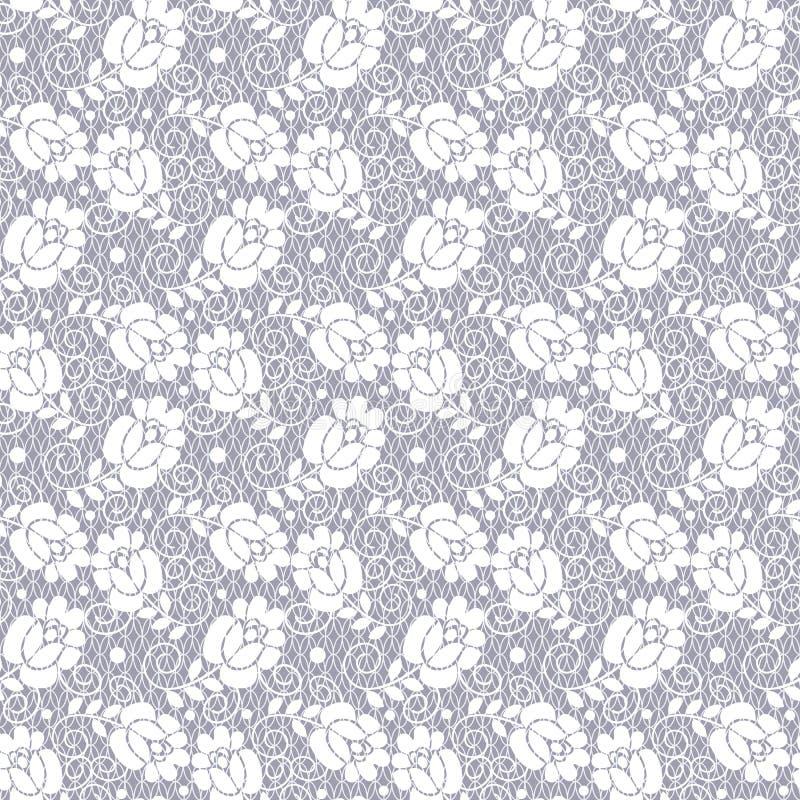 Bloemenkantpatroon royalty-vrije illustratie