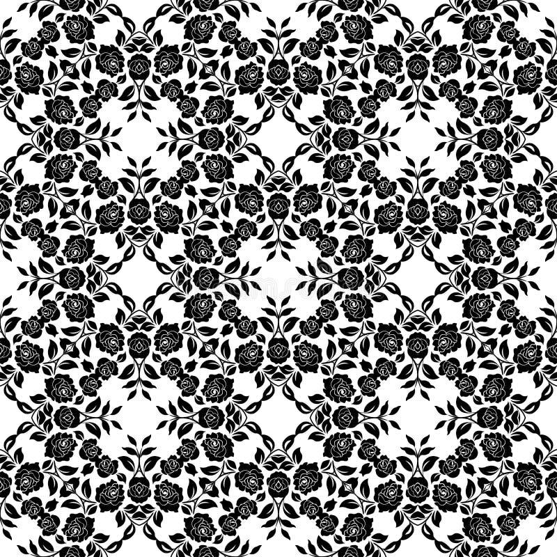 Bloemenkantpatroon vector illustratie