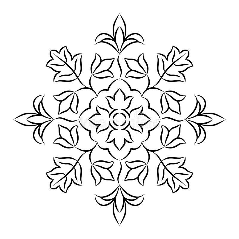 Bloemenmandala stencil stock illustratie