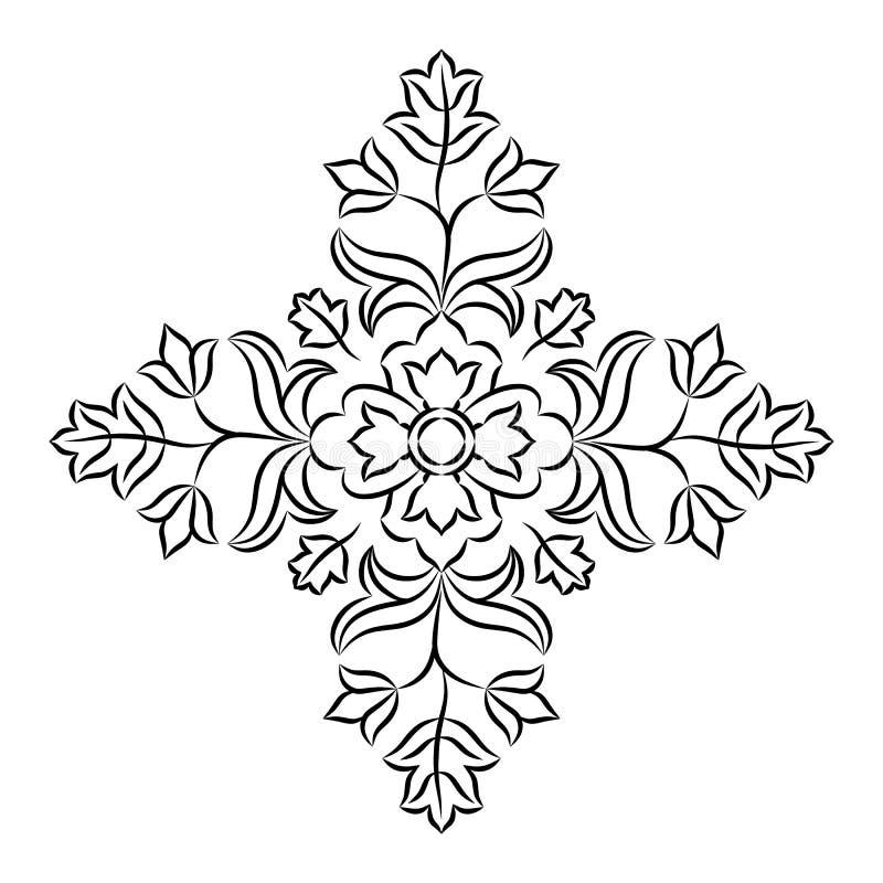 Bloemenmandala stencil royalty-vrije illustratie