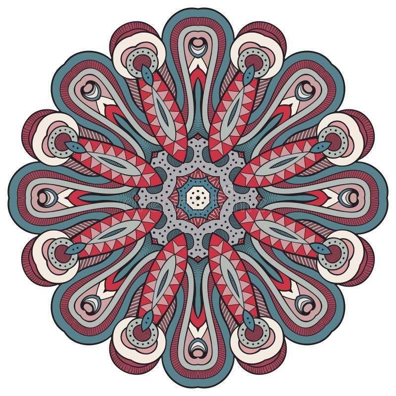 Bloemenmandala Uitstekende sier vectorillustratie royalty-vrije illustratie