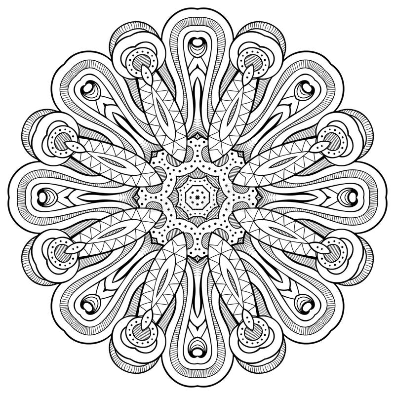 Bloemenmandala Uitstekende sier vectorillustratie vector illustratie